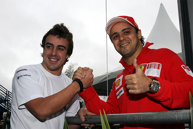 alonso y massa firman la paz